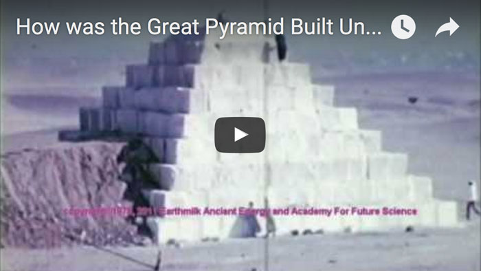 how was the pyramids built video